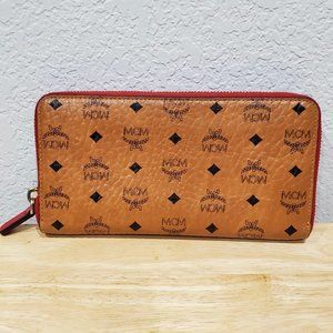 MCM zippered wallet